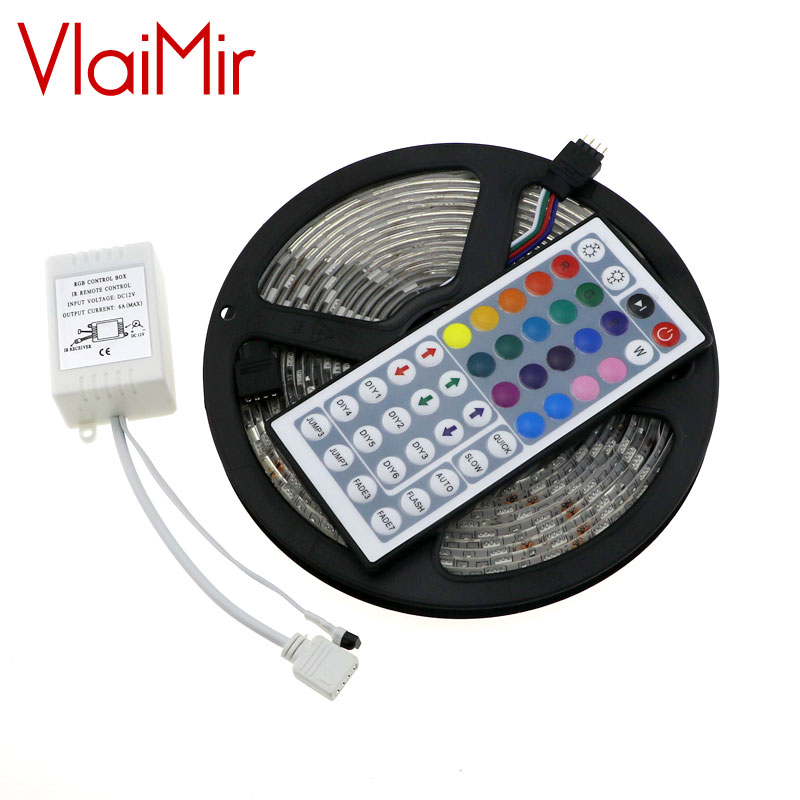 10m 5m rgb led strip 5050 3528 set with ir remote controller dc12v smd 60leds m non waterproof. Black Bedroom Furniture Sets. Home Design Ideas