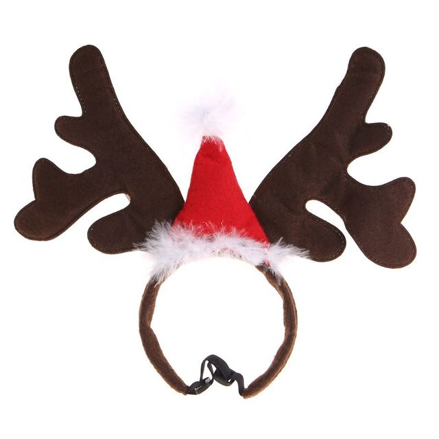Christmas Pet Headband Deer Horn Hat Costume Dog Puppy Cat Cosplay Party Product Nov-11A 1