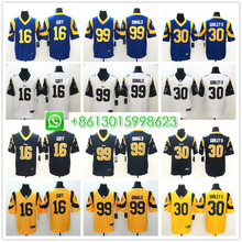 8bc8359a723 Sewn Men Los Angeles Todd Gurley II Jared Goff Aaron Donald Vapor  Untouchable Limited Player Jersey