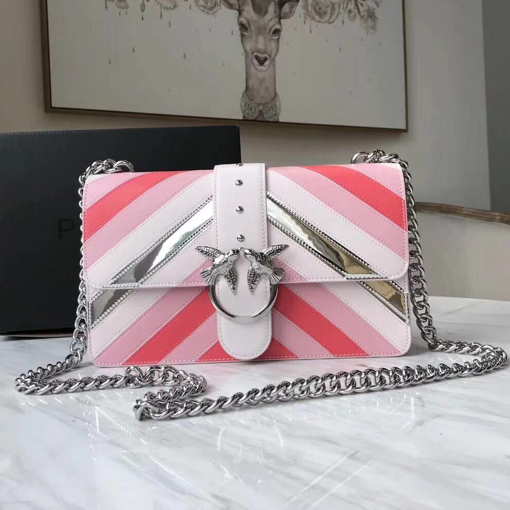 2018 Newest Fashion swallow messenger bag famous brand bags pearl women handbag genuine leather letter bolsas rivet chains