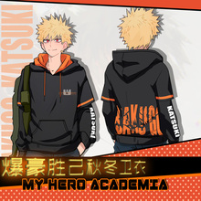 Anime Hoodie My Hero Academia Boku no Hero Academia Bakugou Katsuki Men Women Autumn Winter Hooded Sweatshirt Pullover Coat NEW
