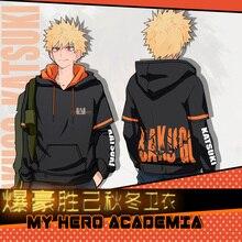 Anime Hoodie My Hero Academia Boku no Hero Academia Bakugou Katsuki ผู้ชายผู้หญิงฤดูใบไม้ร่วงฤดูหนาว Hooded Sweatshirt เสื้อกันหนาวเสื้อใหม่