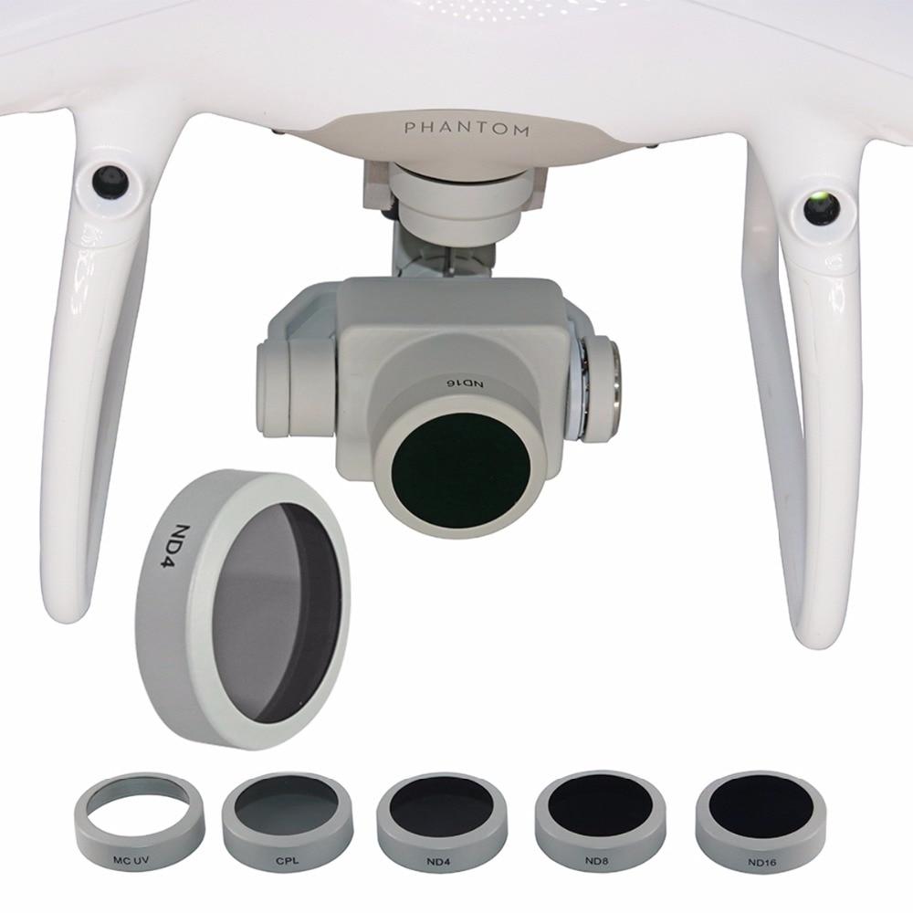 UV CPL ND4 ND8 ND16 Filtro de lente para DJI Phantom 4 Pro V2.0 Advanced Drone Cámara densidad neutra polarizante Circular filtro