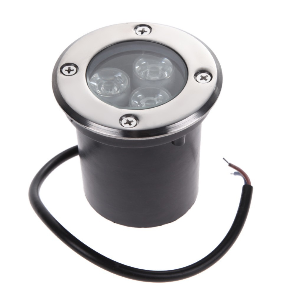 buy Free shipping IP67 led underground light 1W 3W 12V 110V 220V warm white green blue color led Under ground light for Garden pic,image LED lamps deals