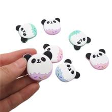 Chengkai 50PCS Silicone Panda Beads DIY Baby Cute Animal Teething Oral Care Pendant Shower Teether Sensory Jewelry Toy Gift