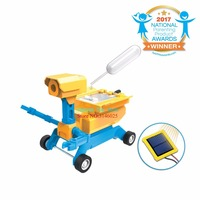 YANZCHILD New High Tech Toys Geo STEM Toy Gifts DIY 2 in 1 Salt Water/Solar Powered Robot Car Kit for Kids Age 8+