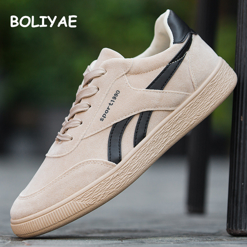 2019 Male Sneakers Casual Shoes For Men Adult Non Slip Footwear Outdoor travel hiking shoes Autumn Cow Suede Leather in Oxfords from Shoes
