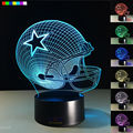 Dallas Cowboys 3D Night Light Free Ship 1 Set 7 Colors Change LED Table Lamp Xmas Gift Creative Night Lamp Drop Ship