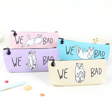 Hot New Bitch Cat Travel Storage Bag Portable Digital USB Gadget Charger Wires Cosmetic Zipper Pouch Case Accessories Supplies(China)