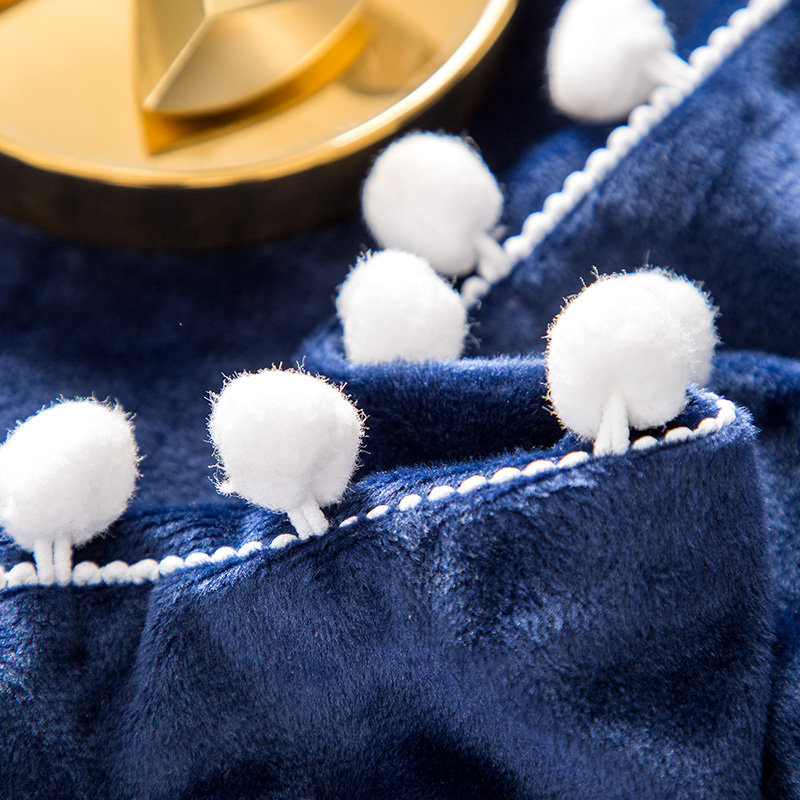Weihnachten bett Dicke Fleece Warme Bettwäsche Set Winter Flanell Nette Ball Stickerei Bettbezug Bettlaken Königin König größe 4 stücke - 6