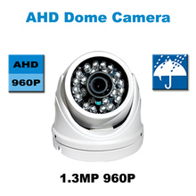 2015 HD 960 P sensor CMOS ahd con IR-CUT filtro de metal Cámara Domo impermeable Al Aire Libre 24 IR LED de seguridad CCTV sistema HD