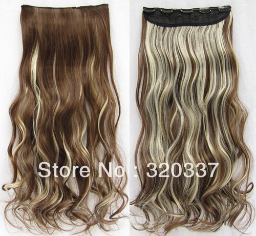 Clip in long hair extensions picture more detailed picture about heat resistant hairpieces wavy synthetic hair extension highlight hair clip in hair extensions 8 pmusecretfo Gallery