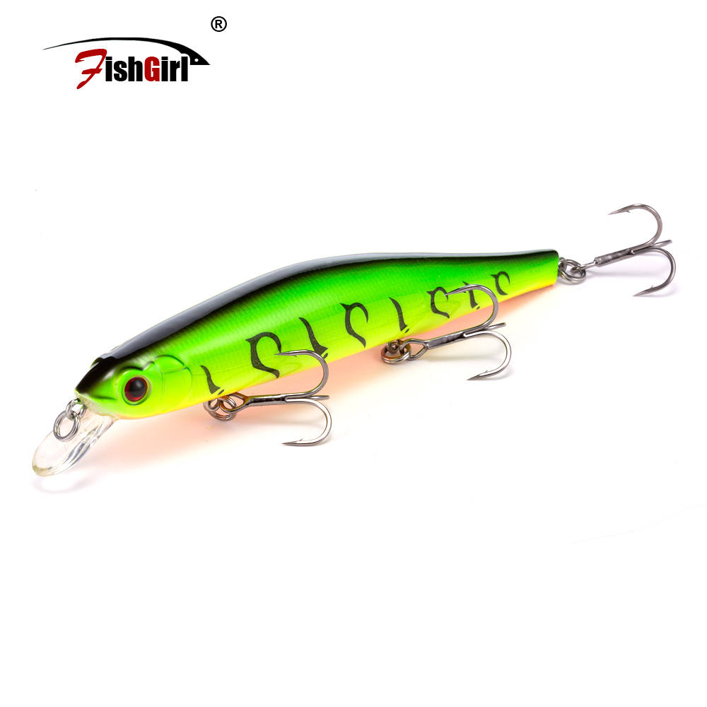 Hot Pesca 2019 Japanese Design Bait Leurre Peche Bass Bait Fishing Lure 110mm Minnow Fishing Wobbler Pike Bass Perch Lures