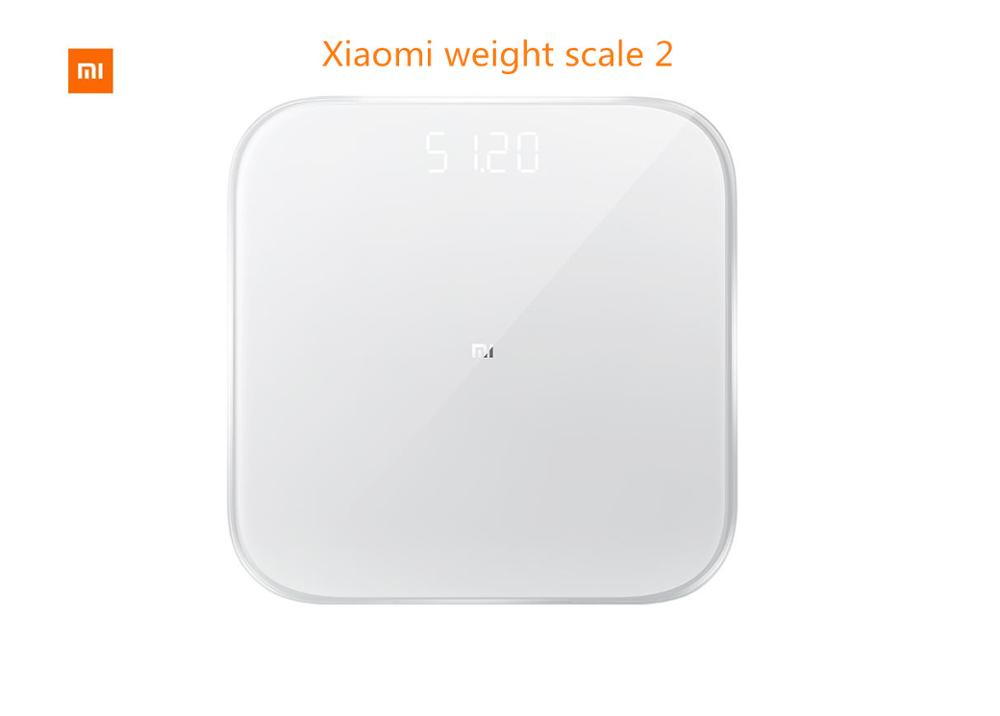DHL free shipping Xiaomi smart household scales 2 Original mi weight Digital scale For Android 4.4 iOS9.0 Above White-in Bathroom Scales from Home & Garden    1