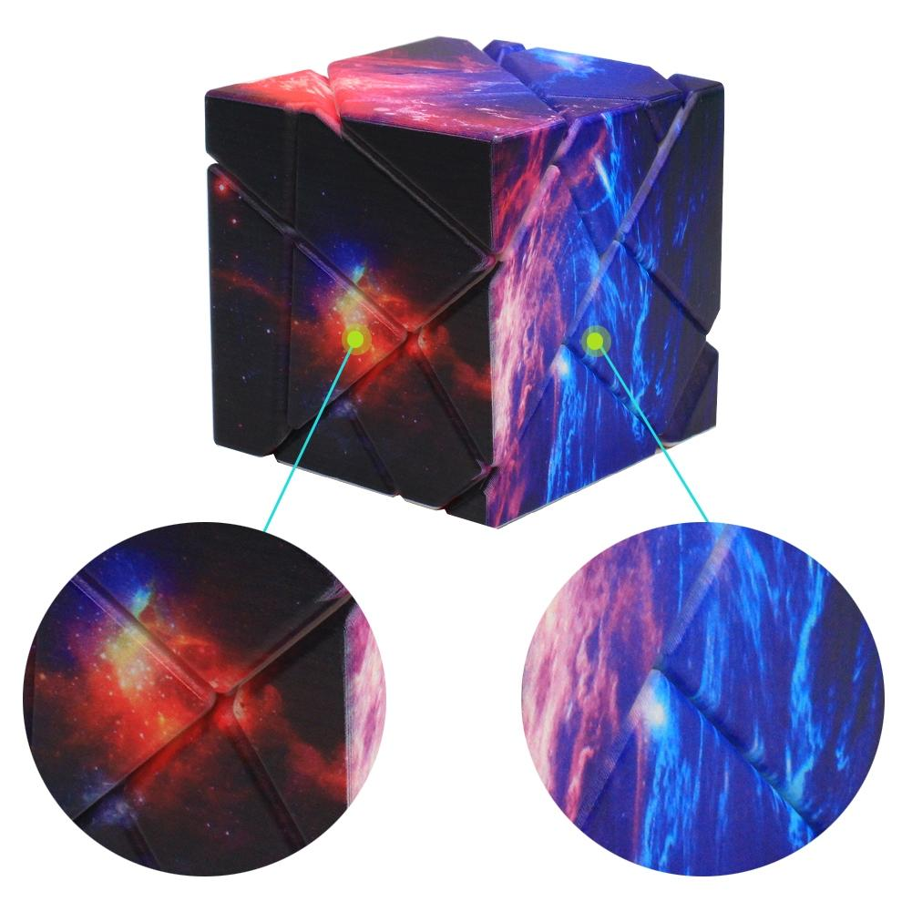 LeadingStar Magic Puzzle Cube with Unique Starry Sky Pattern Twist Puzzle Adult Kids Educational Toy Birthday Festival Gift