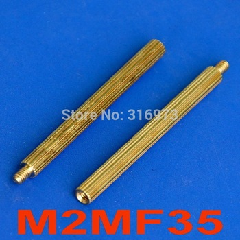 (1000 pcs/lot) 35mm Threaded M2 Brass Male-Female Standoff, Spacer. image