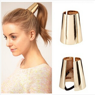 Bijoux métal Big or / argent plaqué élastique queue de cheval titulaire  cheveux
