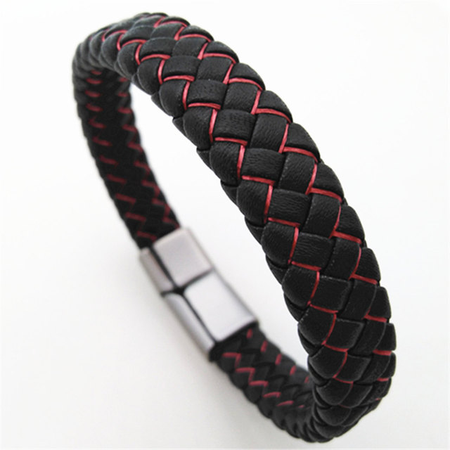 Braided Handmade Leather Men Bracelets