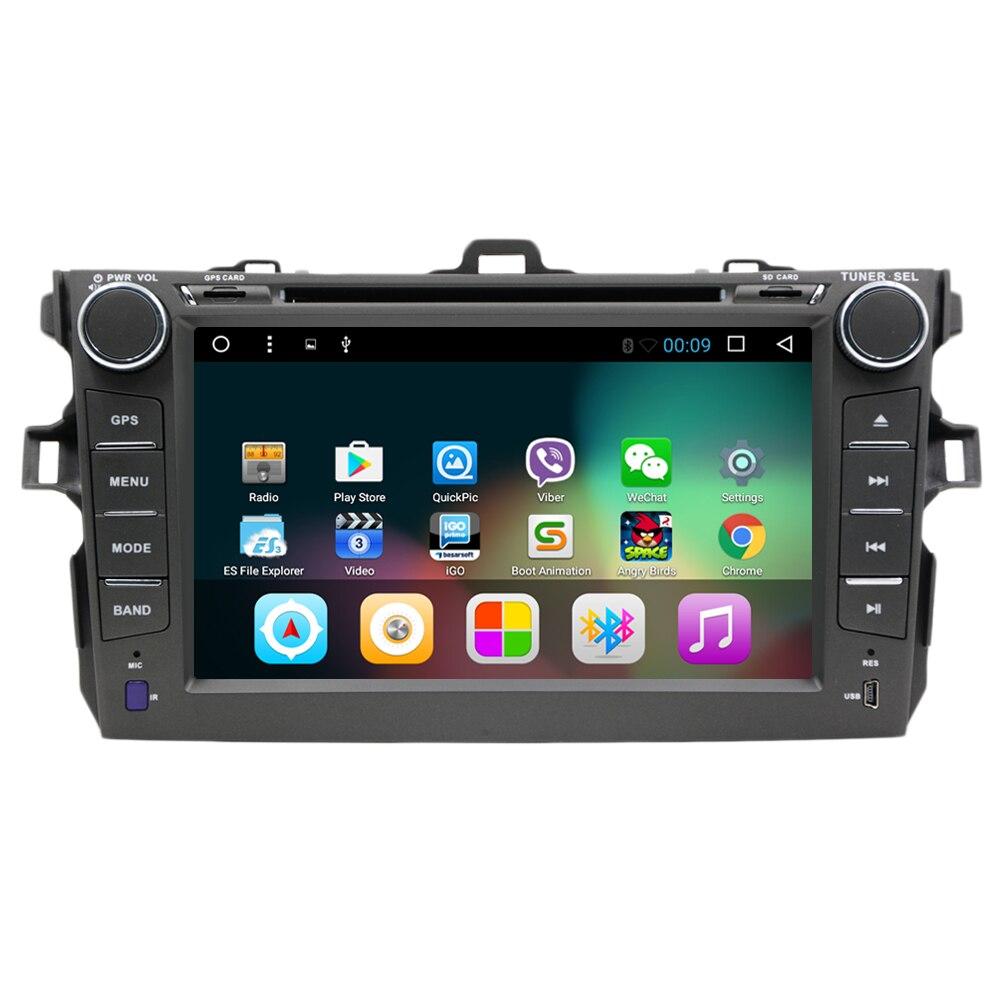 Android 7.1 Quad Core De Voiture DVD pour Toyota Corolla 2007 2008 2009 2010 2011 voiture radio gps headunit magnétophone navigation wifi