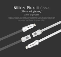 Nillkin Original micro usb plug digital cable for lightning cable Fast Charger For i6 iphone 6 s plus i5 iphone 5 5s ipad ios 9