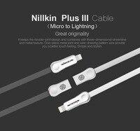 Nillkin Orijinal mikro usb tak dijital kablo yıldırım kablosu için Hızlı Şarj i6 için iphone 6 s artı i5 iphone 5 5 s ipad ios 9