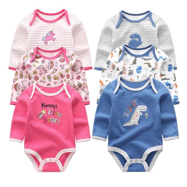 6af0a3f222c9 Newborn Baby Boys Rompers Long Sleeve Boys Playsuits Infant Girls ...