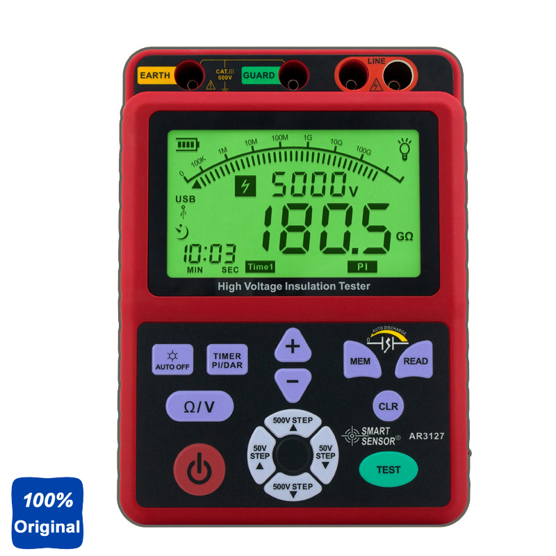 100% Original AR3127 Digital High Voltage Insulation Tester Insulation Resistance Tester