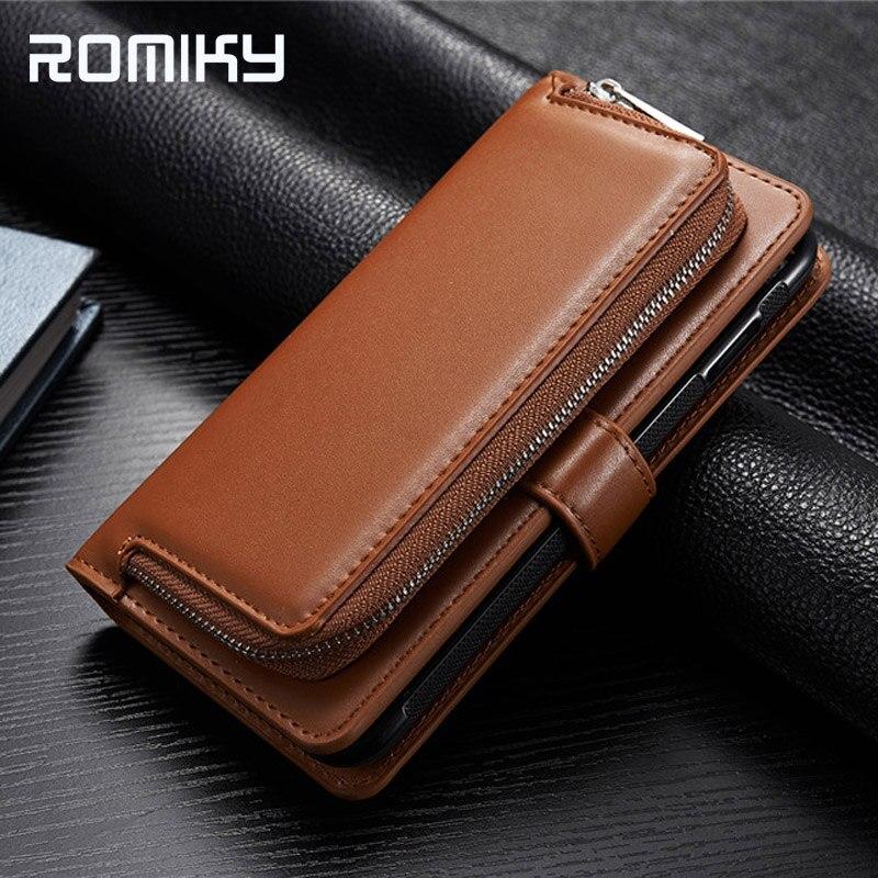 imágenes para Romiky PU Bolsos De Cuero Del Teléfono para Samsung Galaxy S8 Plus Flip Caja de La carpeta para Samsung S8 Plus Teléfono Pistolera de la bolsa Titular