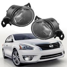 Светодиодный Светодиодный стиль пара противотуманных фар для Nissan Altima Maxima Rogue Sentra прозрачные линзы Противотуманные фары вождения бампер лампы автомобиля светодиодный светодиодные противотуманные фары