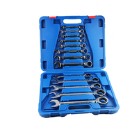 13pcs combination the key ratchet wrench set hand tools Key kits for cars auto repair in the case spanners a set of keys DN103