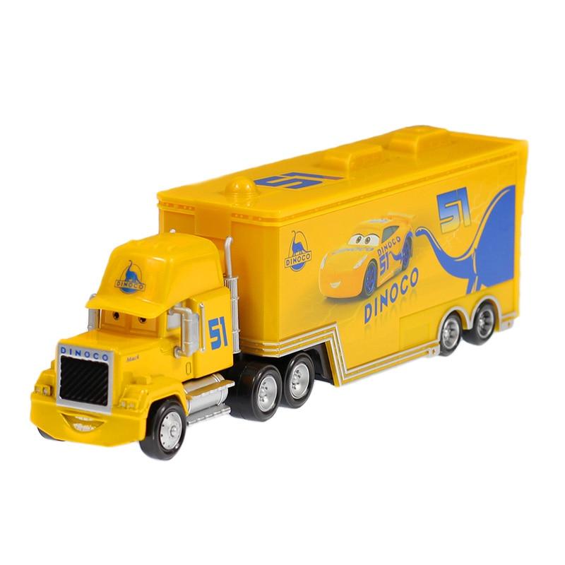 Дисней Pixar Тачки 2 3 игрушки Молния Маккуин Джексон шторм мак грузовик 1:55 литая под давлением модель автомобиля для детей рождественские подарки - Цвет: uncle 8