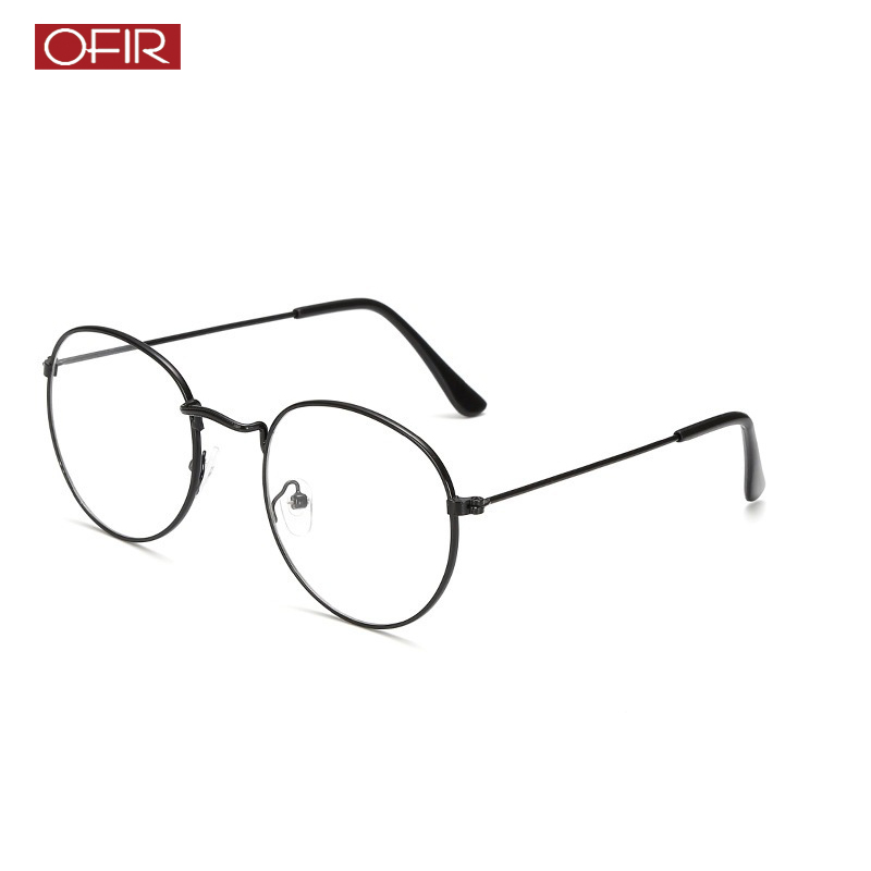 12de9e167f 2019 New Woman Optical Glasses Frames Designer Metal Round Glasses Frame  Clear lens Eyeware Black Silver