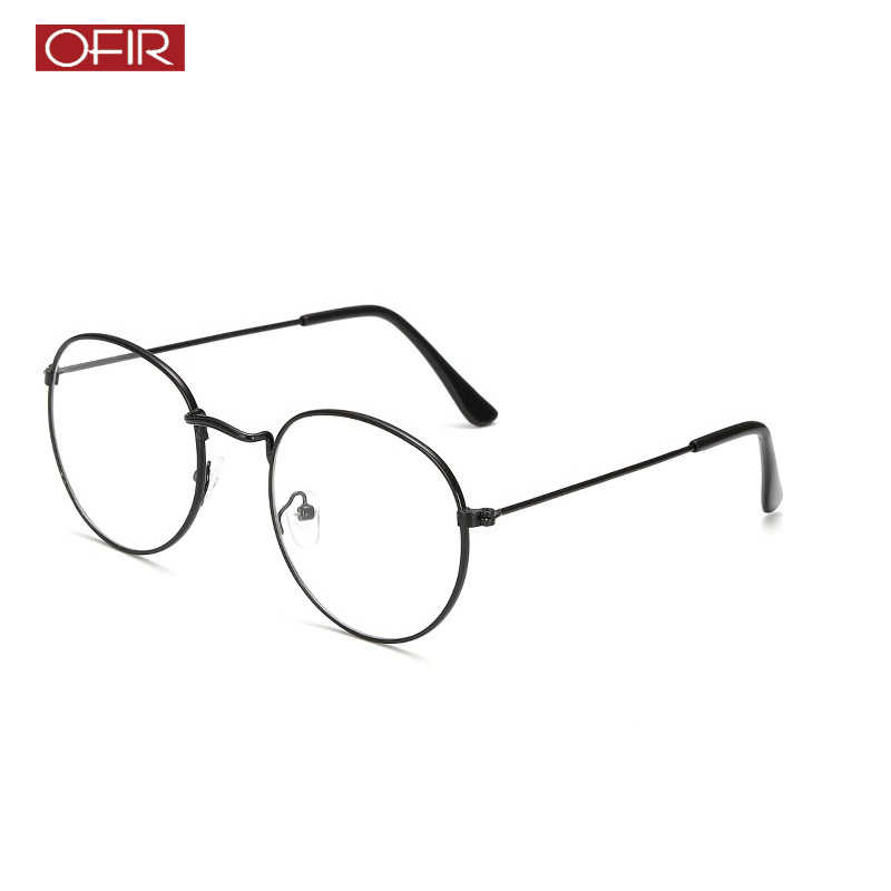 214ac36f3 2019 New Woman Optical Glasses Frames Designer Metal Round Glasses Frame  Clear lens Eyeware Black Silver