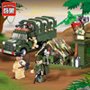 Enlighten 811 Military Series Army Truck With Soldiers Combat Zones Educational Building Blocks Toys For Children