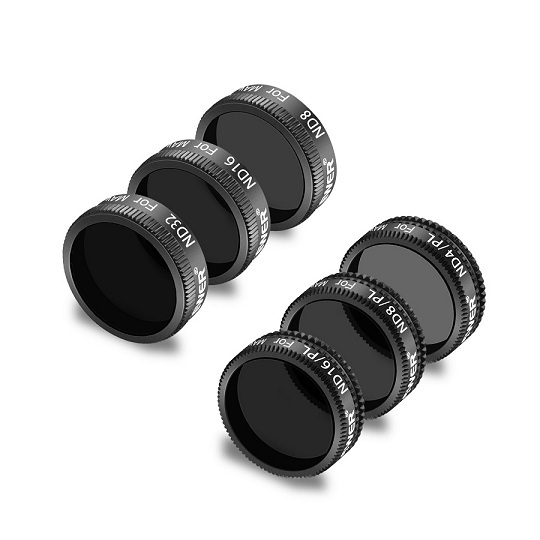Neewer DJI Mavic Air Filters 6 Pack ND8  ND16  ND 32  ND4/PL  ND8/PL  ND16/PL Made of Multi Coated Waterproof Aluminum Alloy|Drone Filter| |  - title=
