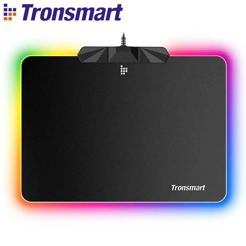 Tronsmart Shine X RGB tapis de souris de jeu ordinateur tapis de souris Gamer tapis USB avec mémoire flash de 8 mo, 16.8 millions de couleurs, capteur tactile