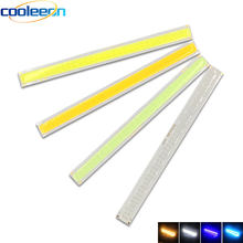 170mm Barra de LED cob luces 12V 12V 6W blanco frío Color Azul Chip LED para la luz del coche Auto DRL lámpara de trabajo Casa bombillas 17CM de tira(China)