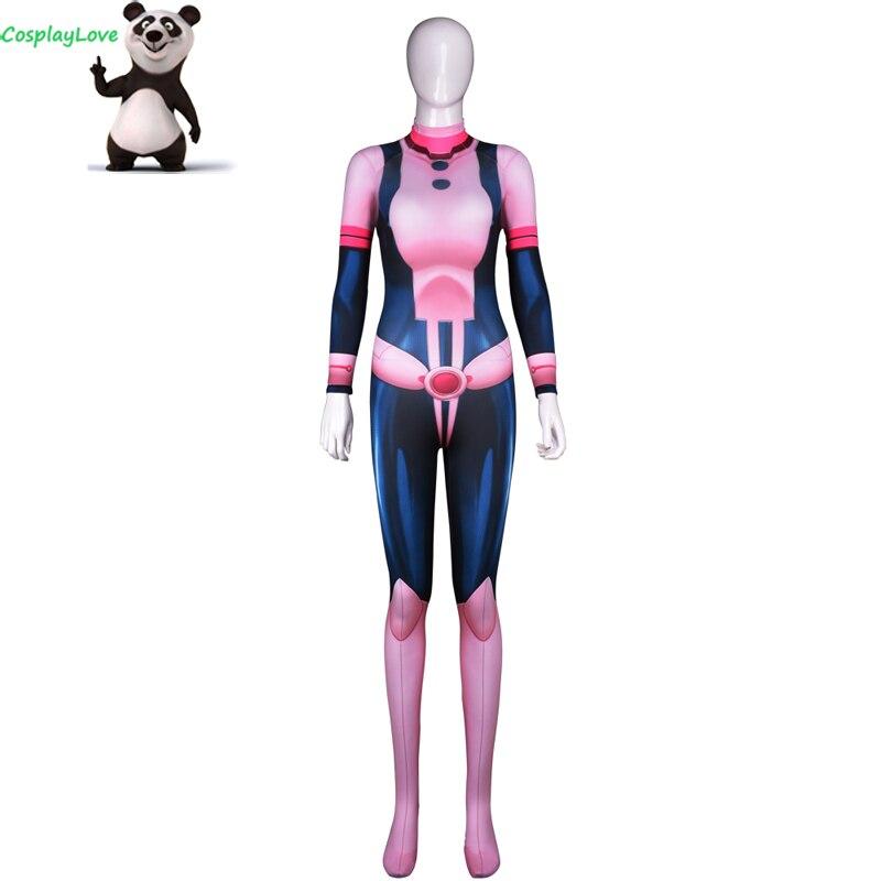 My Hero Academia Boku No Hero Akademia Ochako Uraraka Zentai Suits Lycra Jumpsuit Spandex Halloween Cosplay Costume