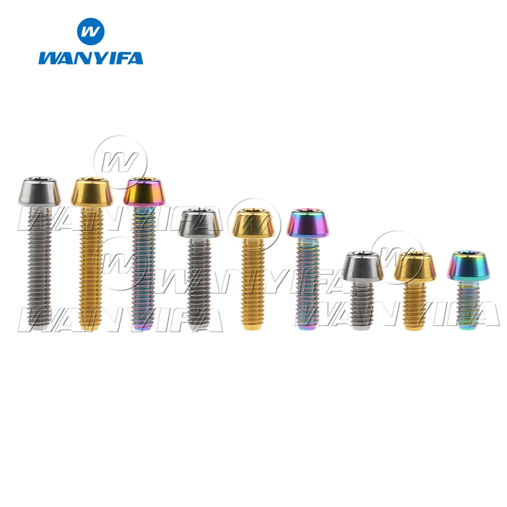 Wanyifa Titanium Bolt M4 x8 15 20mm Taper Head Screw Bicycle