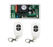 220 v 1 ch  RF  wireless remote control switch 1 receiver+2  transmitter  More convenient circuit connection inter-lock mode