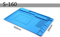 450 300 7mm Insulation Silicone Pad Desk Mat Maintenance Platform With Magnetic Section For BGA Soldering