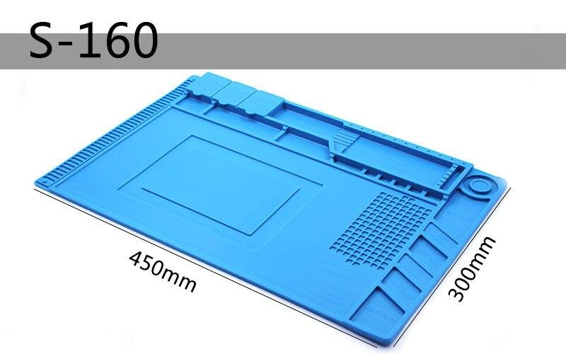 SZBFT 450*300*7mm insulation Silicone Pad Desk Mat Maintenance Platform With Magnetic Section For BGA Soldering Repair Station цены
