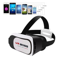 Hot Selling VR BOSS Virtual Reality Game 3D Glasses For Phones VRBOSS 3D Virtual Reality