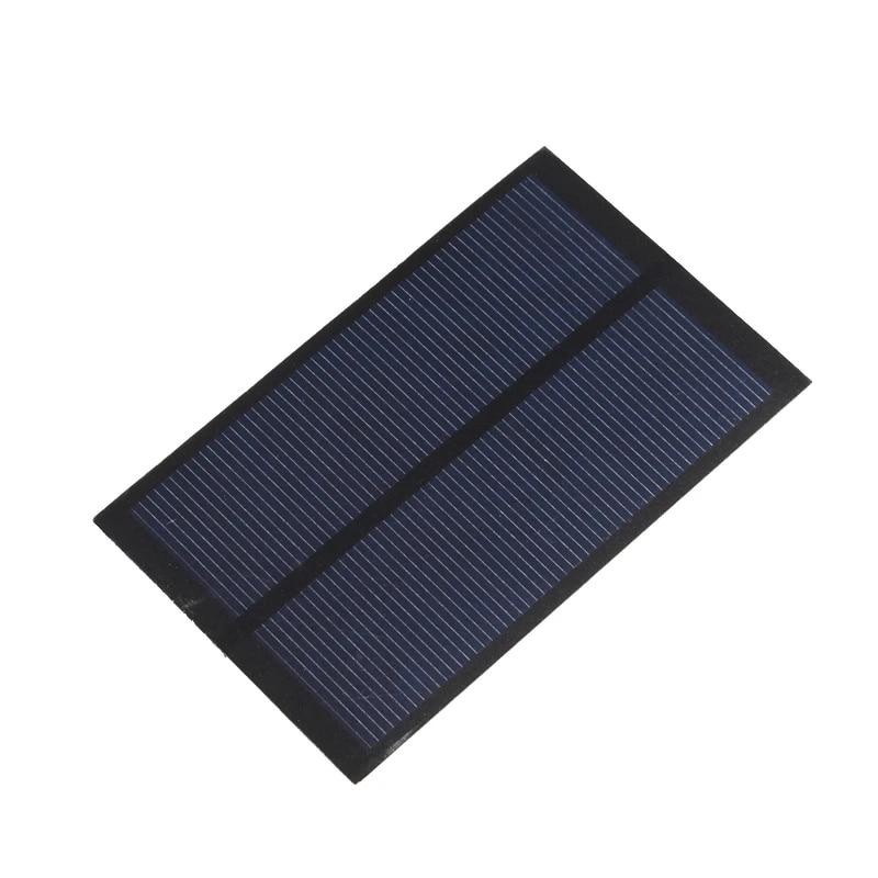 5V 1,2W 240mA DIY Polykristalline Silizium Solarpanel Solar Ladegerät #OS