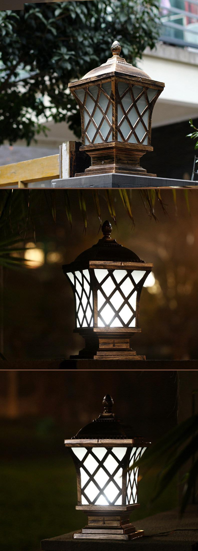 Solar post cap lamp outdoor lighting wall lamps balcony led sconce aeproducttsubject arubaitofo Gallery