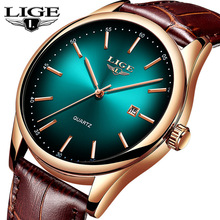 LIGE Mens Watches Top Brand Luxury Date Clock Leather Waterproof  Quartz Watch Men Wristwatch Relogio Masculino Montre Homme+Box ailang date month display rose gold case mens watches top brand luxury automatic watch montre homme clock men casual watch 2018