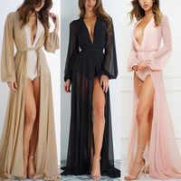 2019 Pareo Beach Cover Up Women Beach Dress Solid Bikini Cover Up Swimwear Women Robe De Plage Beach Wear Cardigan Bathing Suit