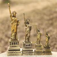 Metall Dekoration Ornamente Souvenirs Statue of Liberty Modell Für Home Office Decor Dekorative Handwerk Tisch Figuren Miniaturen
