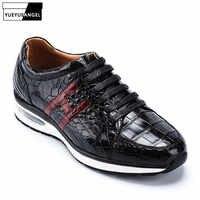 Chaussures de sport de luxe en cuir Alligator pour hommes chaussures de sport en cuir véritable Crocodile de qualité supérieure chaussures Tenis Masculino