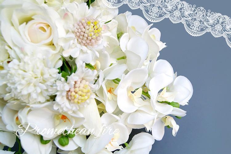 Bridesmaid flower wedding accessories bridal bouquets artificial bruidsboeket fleurs bouquet mariage 7